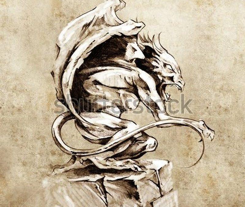 Gargoyle tattoo art photo