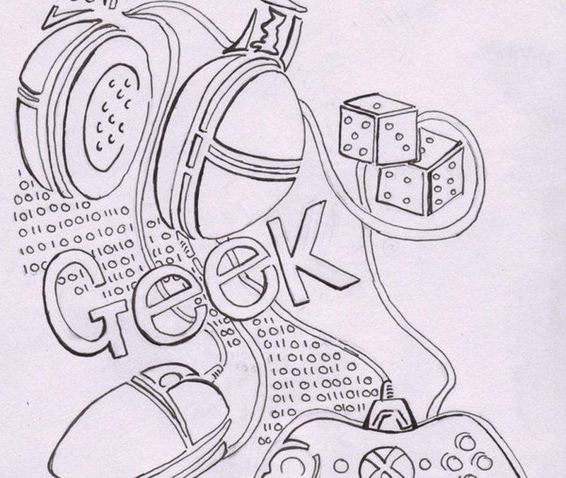 Geek tattoo sketch