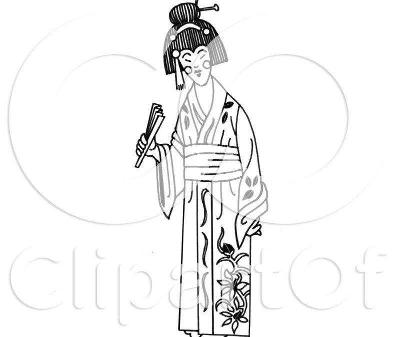 Geisha tattoo clip art