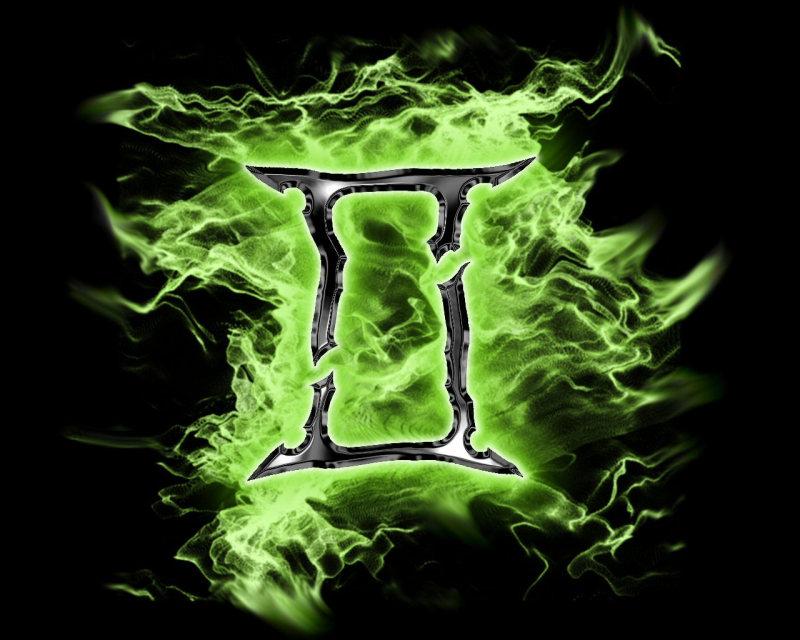 Gemini symbol tattoo poster