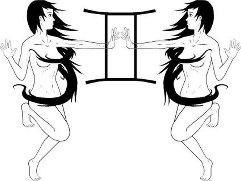 Gemini zodiac sign tattoo design 2