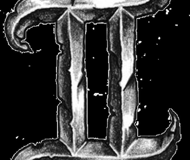 Gemini zodiac symbol tattoo design