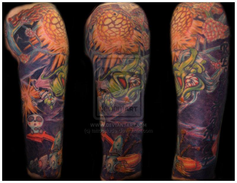 Graffiti sleeve tattoo design