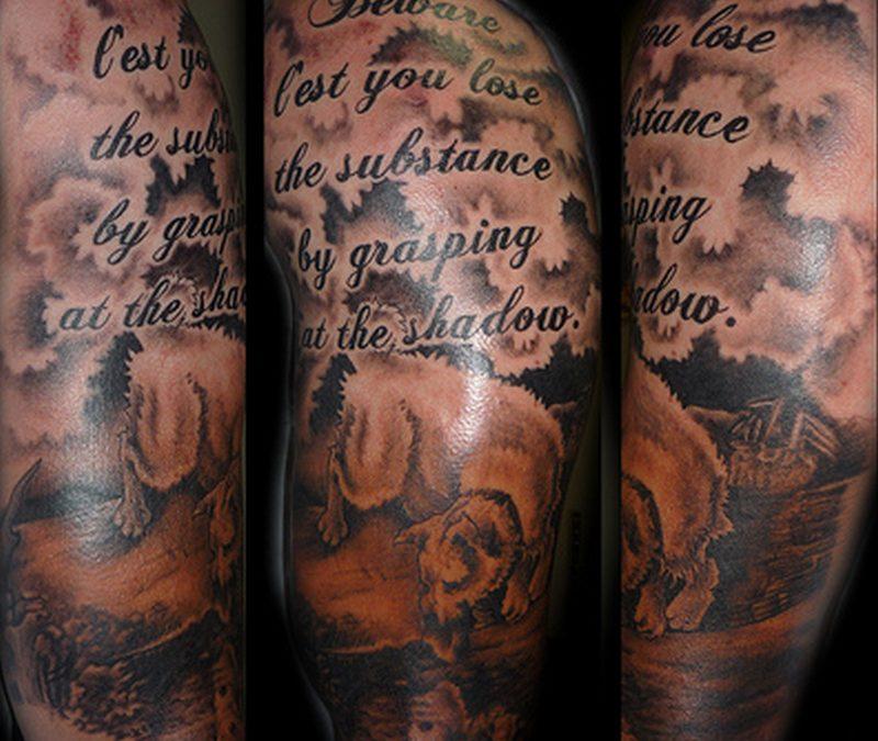 Groovy half sleeve tattoo design for men