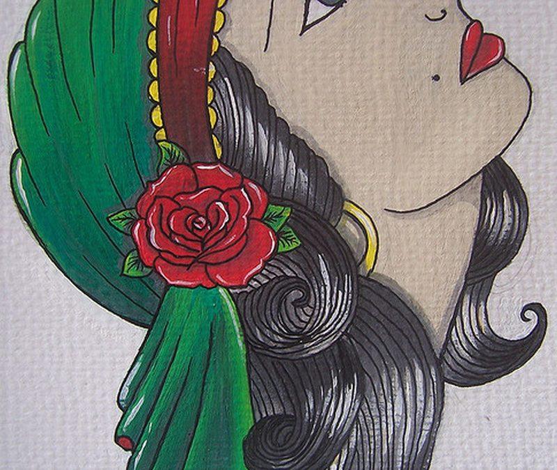 Gypsy woman tattoo design 2