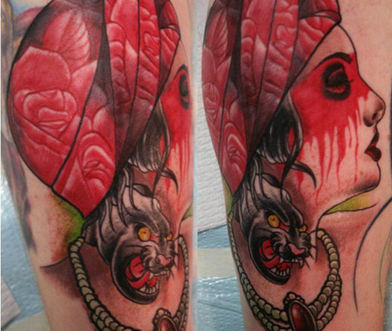 Gypsy woman tattoo design