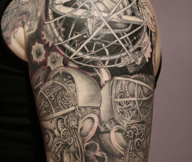 Half sleeve biomechanical tattoo 3