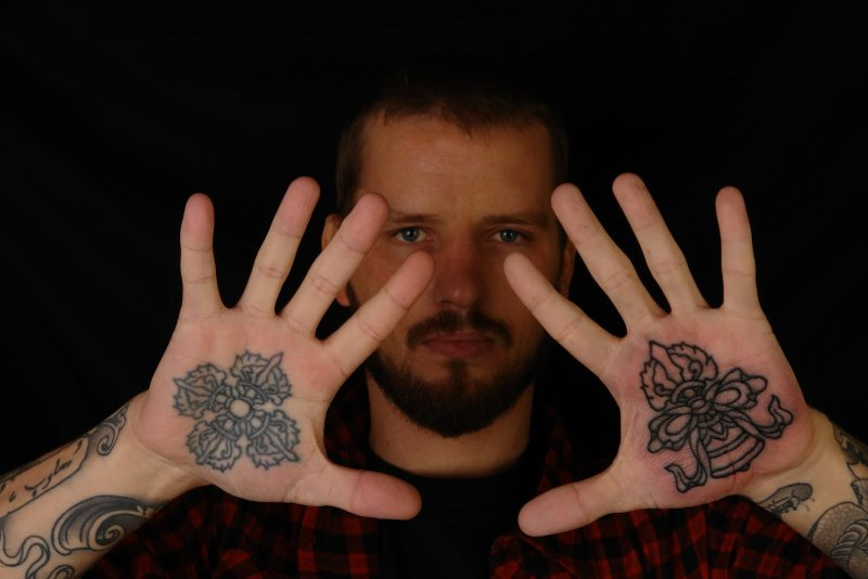 Hand palm tattoo designs for men