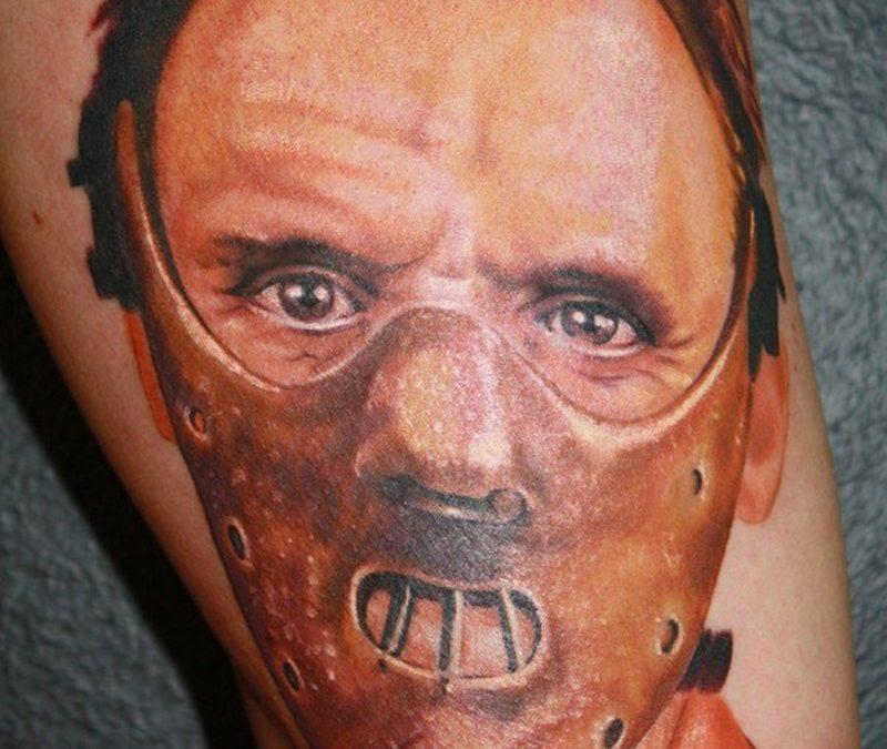 Hanibal portrait horror tattoo design