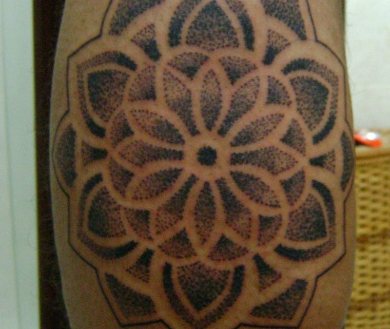 Hinduism mandala tattoo design