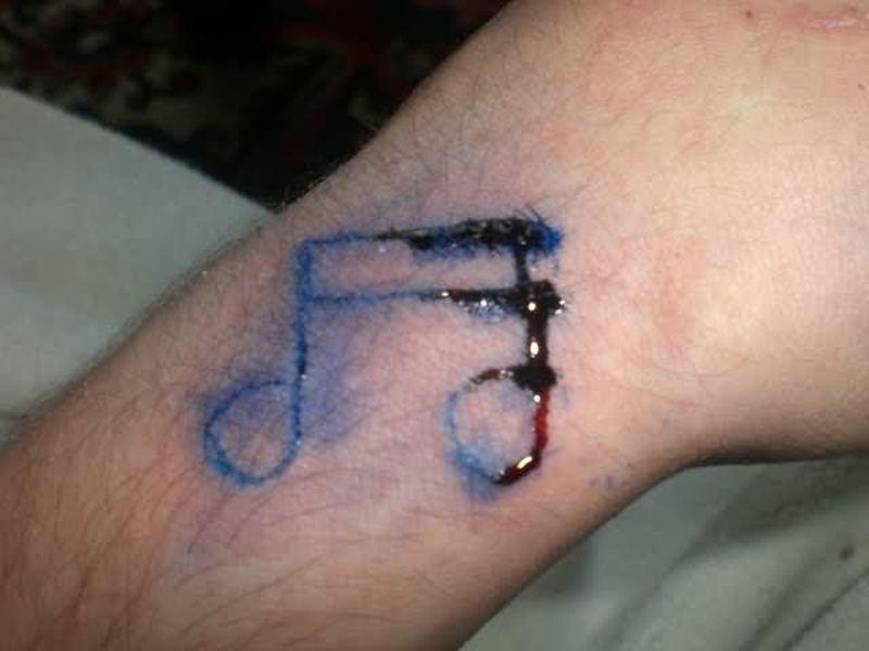 Homemade music tattoo design