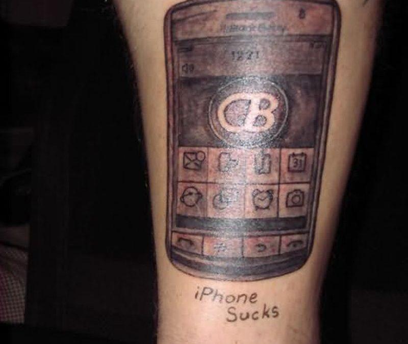 Iphone geek tattoo design