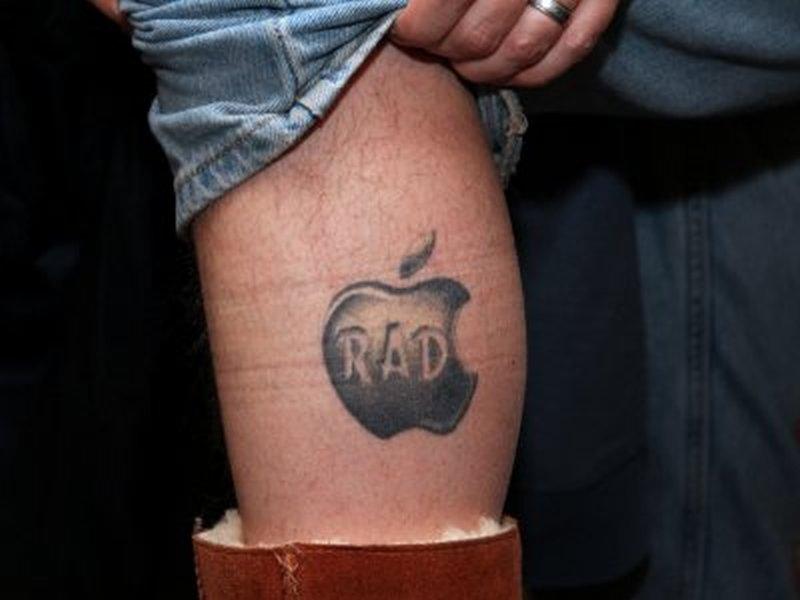 Mac geek rad apple tattoo