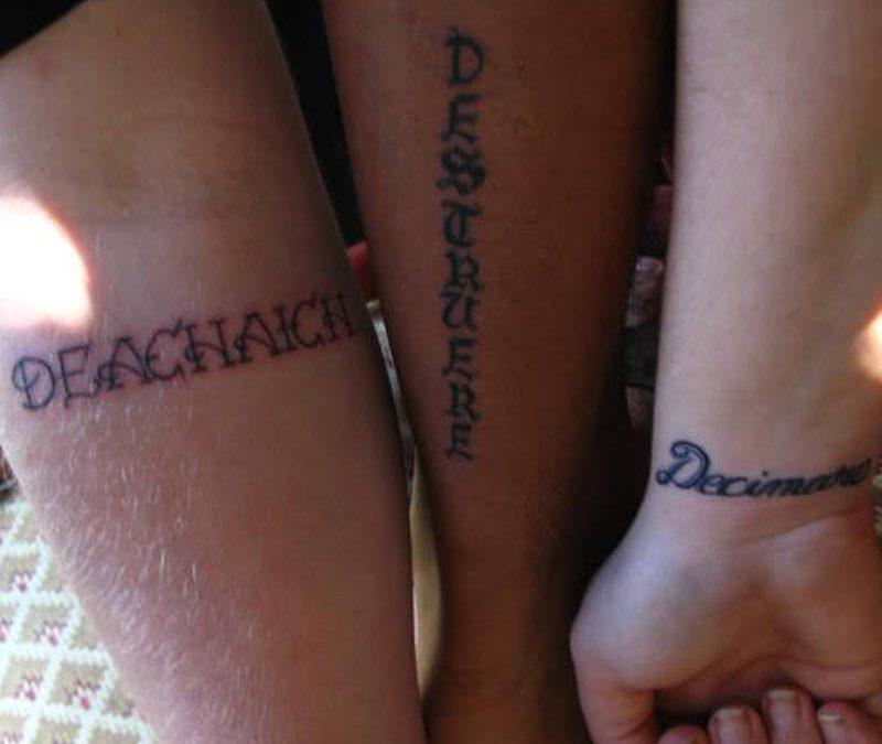 Matching friendship tattoo