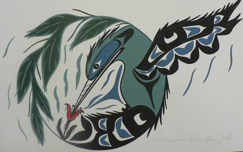 Native hummingbird tattoo design 3