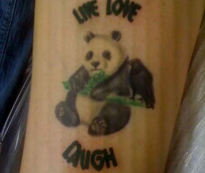 Panda bear tattoo design