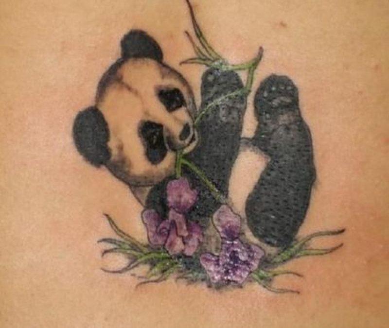 Panda bear tattoo picture
