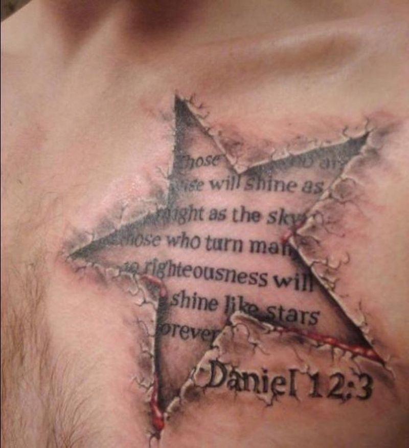 Religious tattoo  star