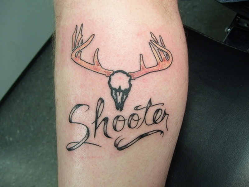 Shooter deer tattoo design