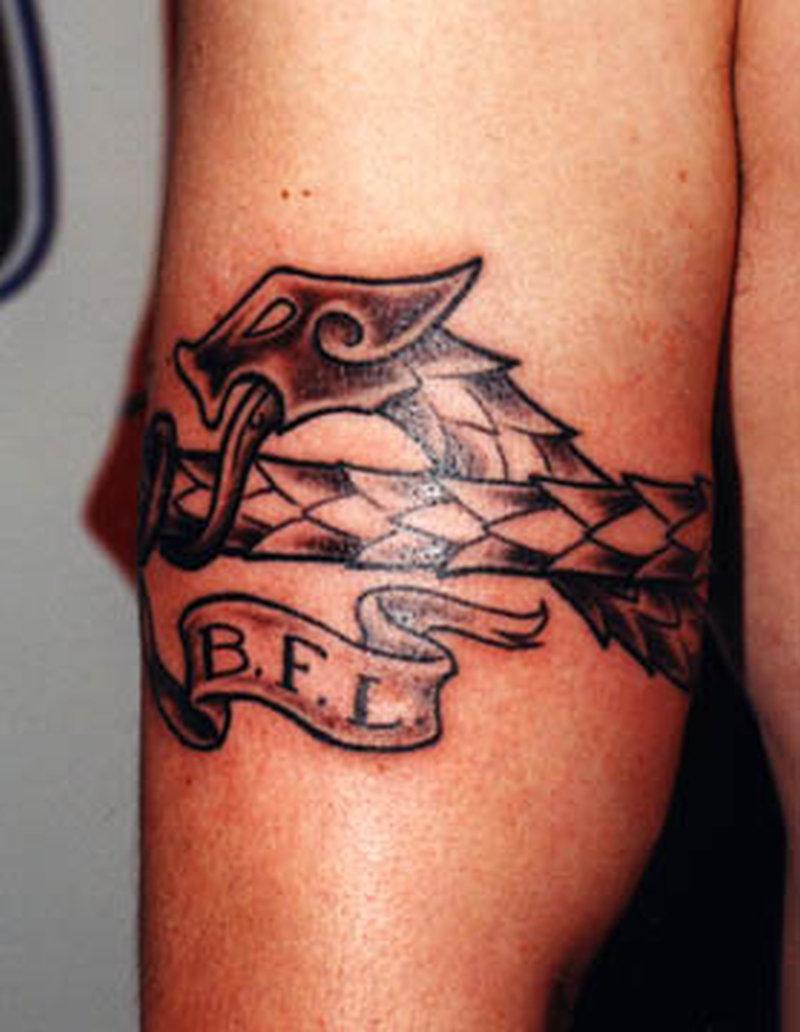 Snake armband tattoo design