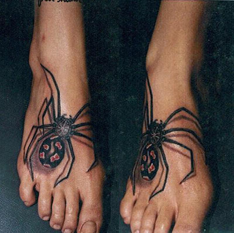 Spider foot tattoo designs