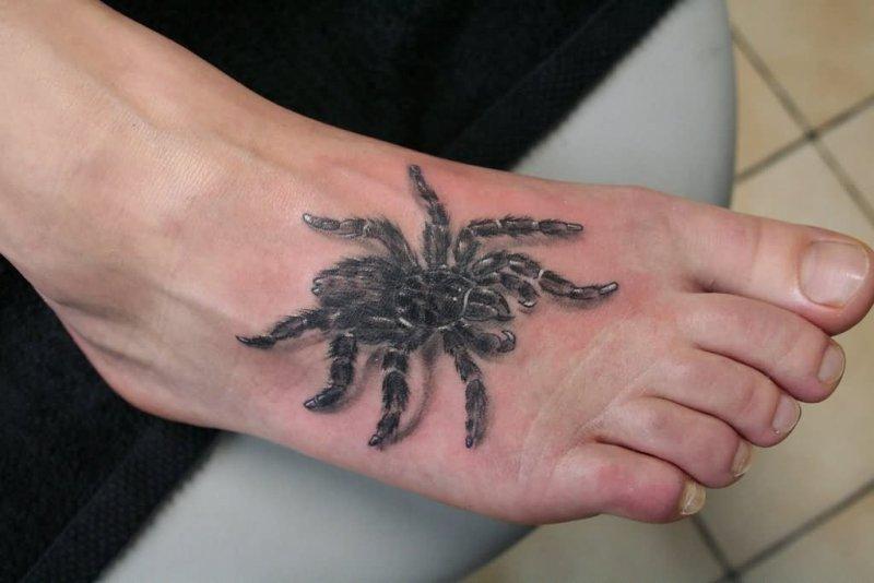 Spider foot tattoo