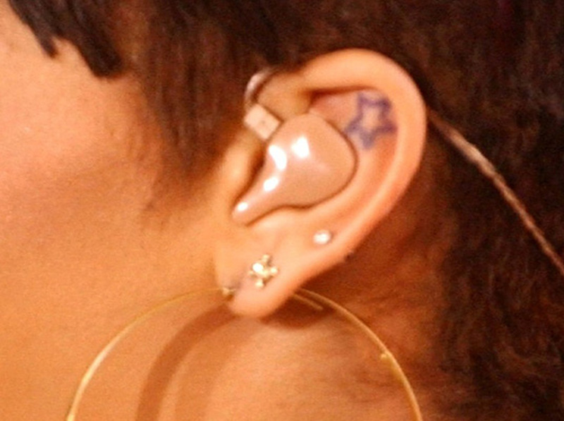 Star ear tattoo design 2