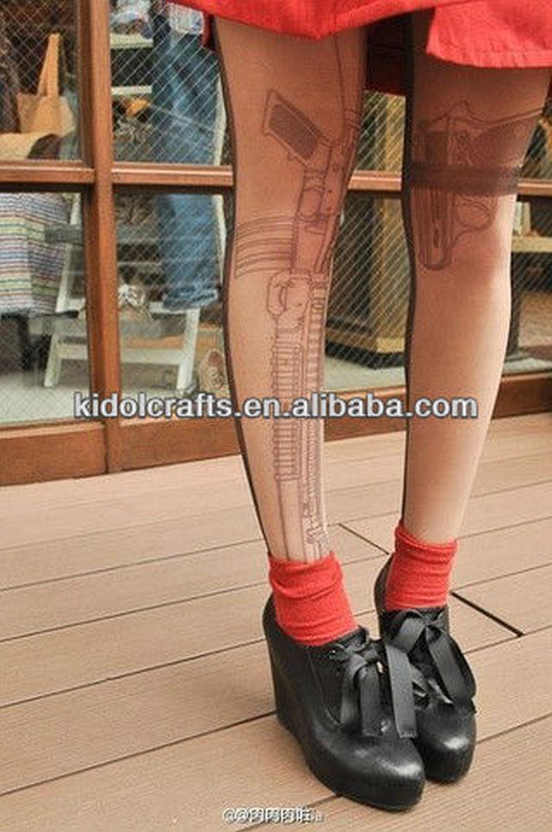 Stocking gun tattoo tights