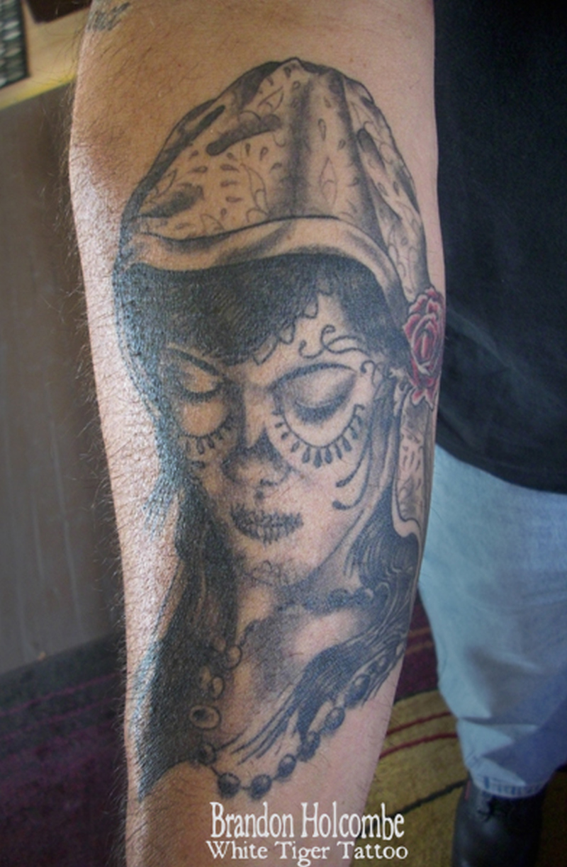 Sugar skull gypsy tattoo design 6 - Tattoos Book - 65.000 Tattoos ...