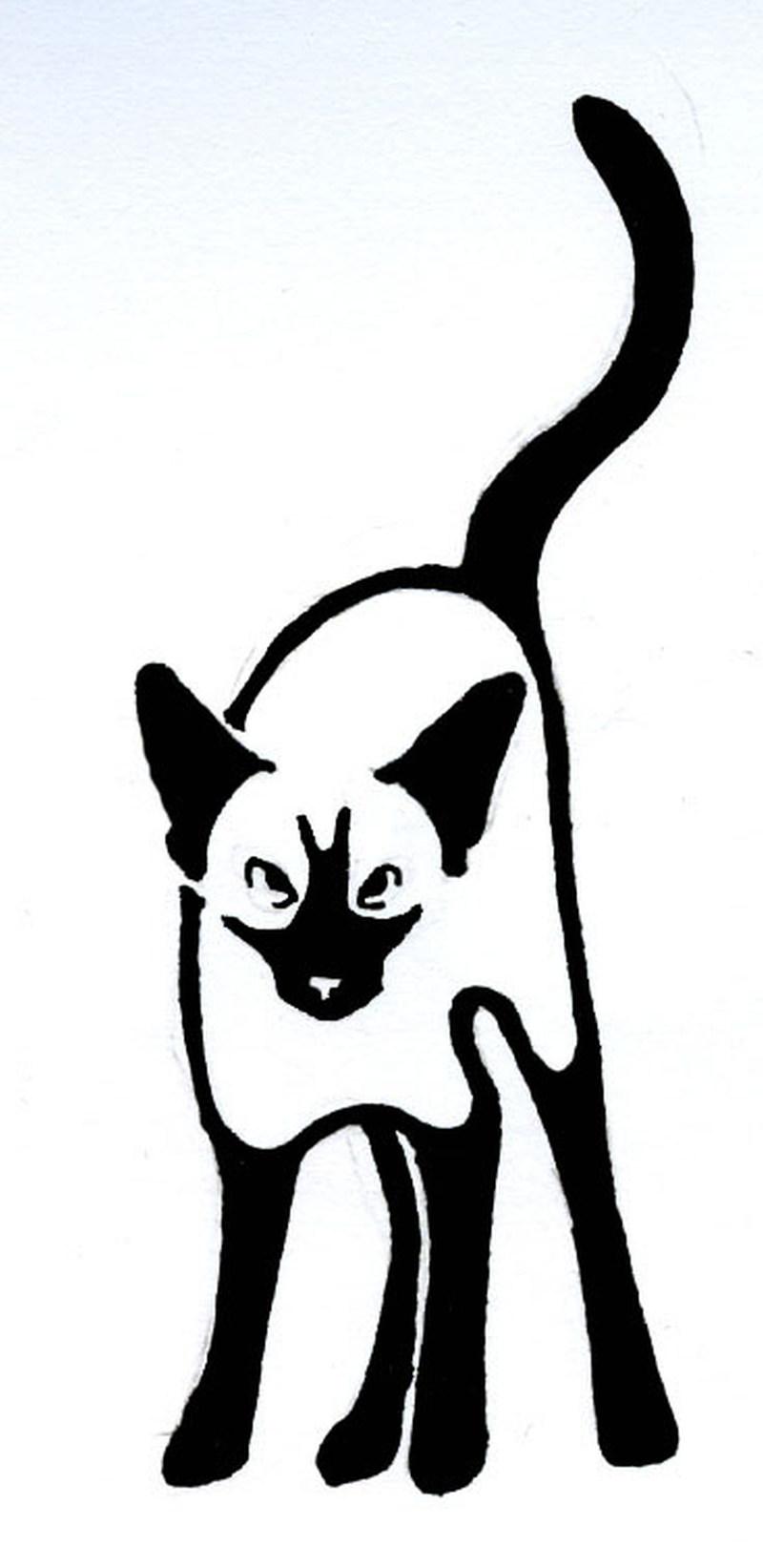 Superb cat tattoo design