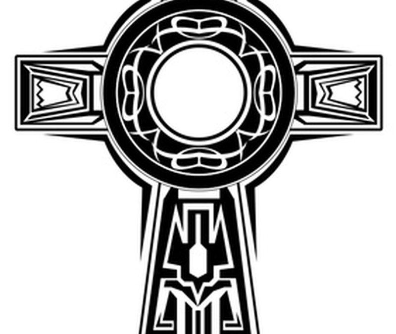 Superb celtic cross design tattoo