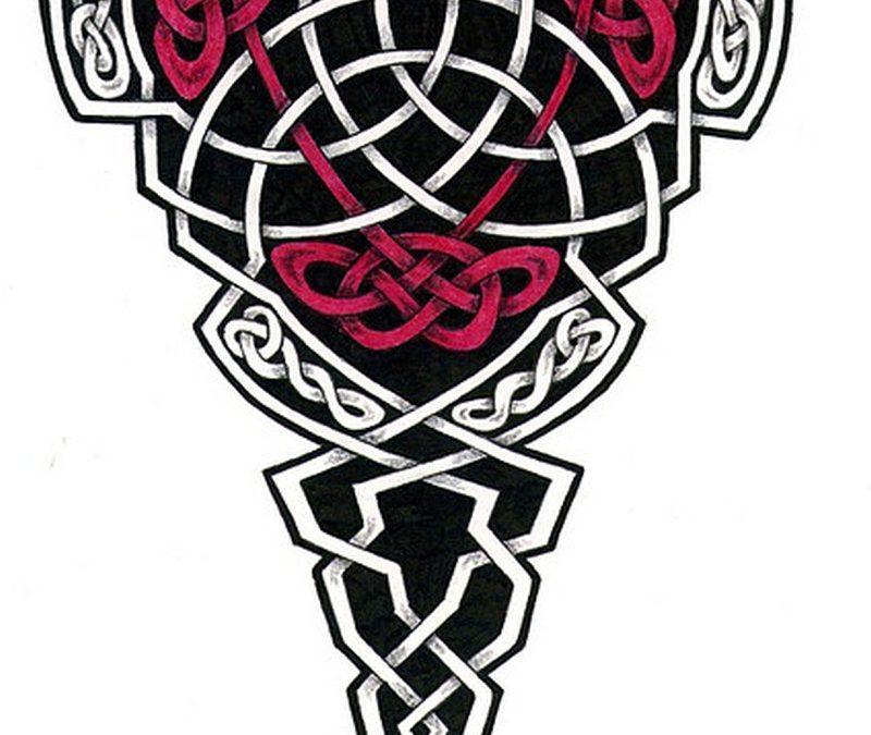 Superb celtic design tattoo