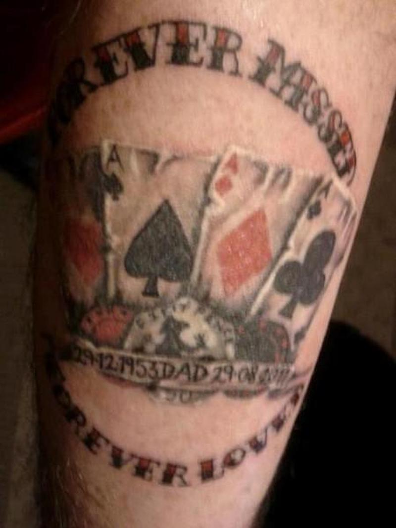 Superb gambling tattoo design