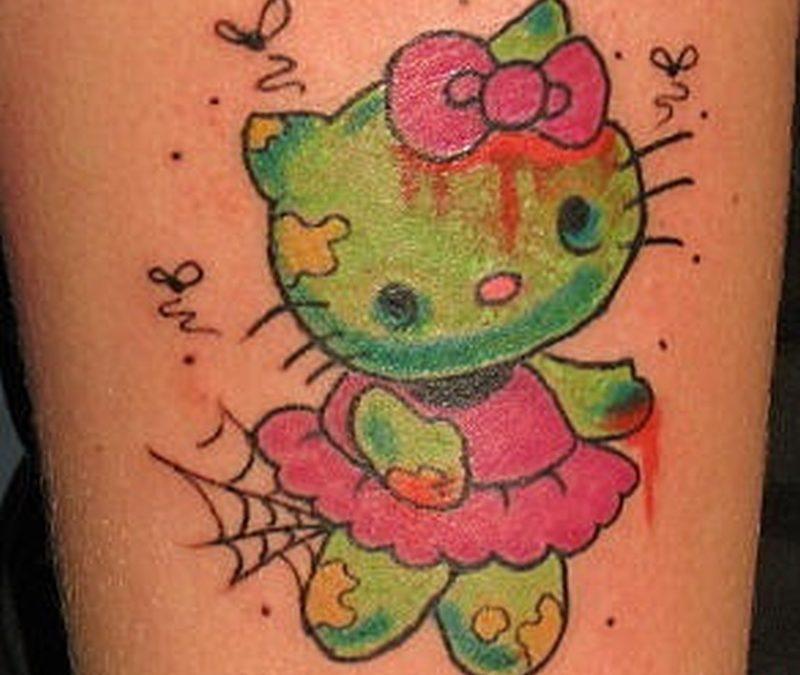 Tattoo hellokittyzombietattoo