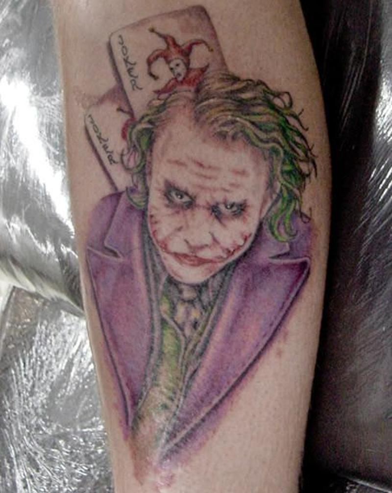 The batman joker tattoo design