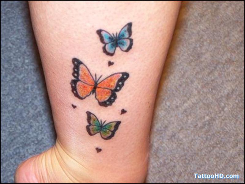 Tiny butterflies tattoo image