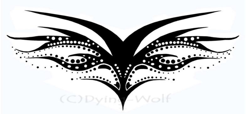 Tribal aries symbol tattoo design