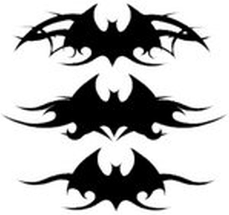 Tribal bats tattoo design