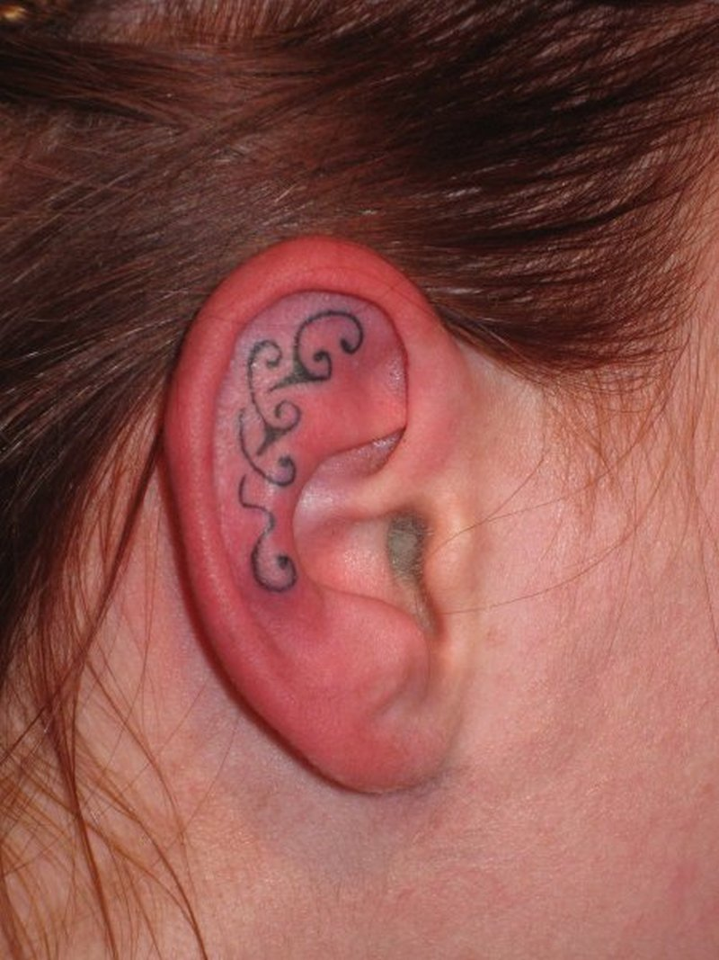 Tribal ear tattoo design 3