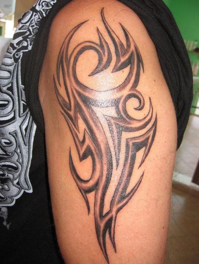 Tribal tattoo design on arm