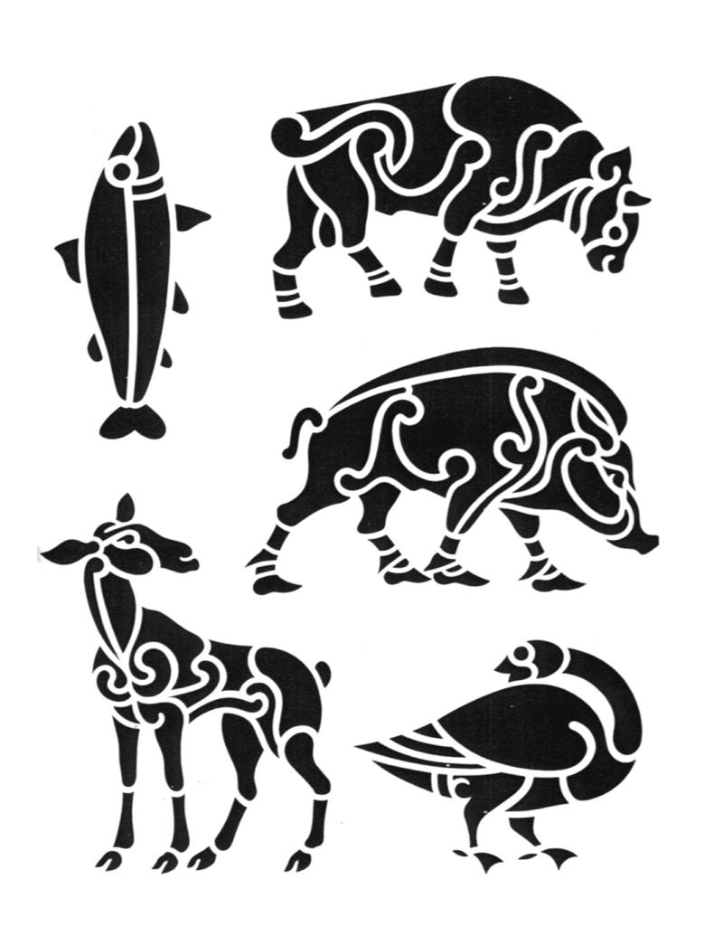 Tribal taurus tattoo designs symbol