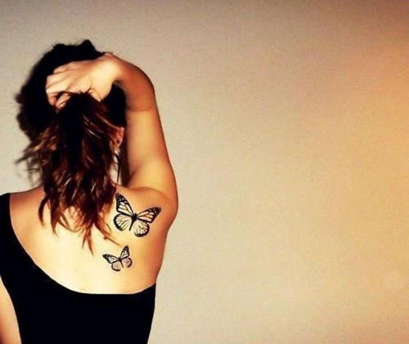 Two butterflies tattoo