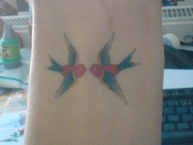 Vintage bird tattoo design