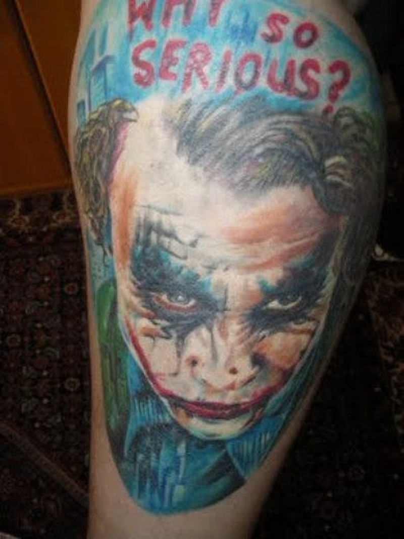 Why so serious batman joker tattoo on arm 2