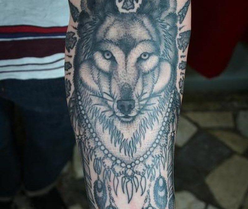Wolf native tattoo