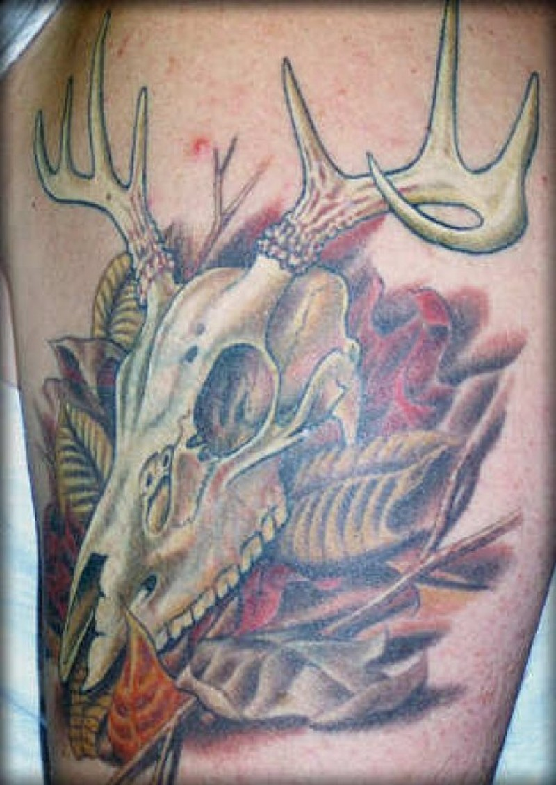 Wonderful deer tattoo image