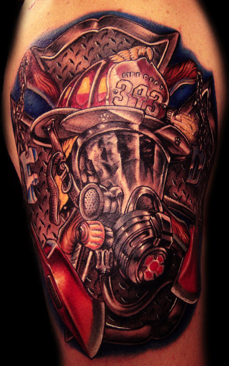 Wonderful firefighter tattoo