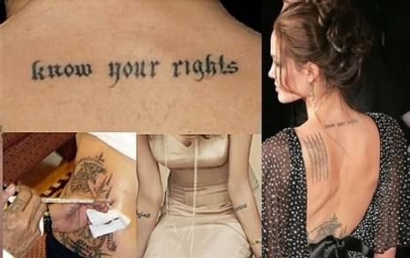 Wonderful tattoo designs for celebrities